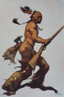 Frazetta study: Indian Brave by xMangoTart