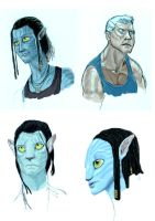 Avatar characters by GrievousGeneral