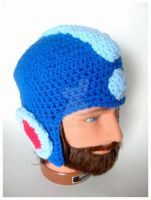 Megaman Hat Beanie by pirateluv
