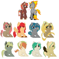 Pyroworks babs (1 left) by perfectnesspony