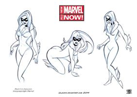 character design black Cat marvel Now by celaoxxx