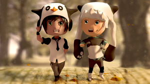 Nondoroid Characters (made in blender) by Afroicecream