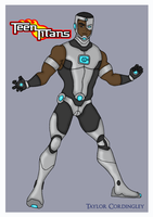 Teen Titans - Cyborg Redesign by Femmes-Fatales