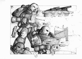Space Marines - Oldschool by Taytonclait