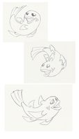 Fish Practice 2 - Poses by PinkuFootsie