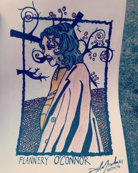 Flannery O'Connor by nylandewhouse