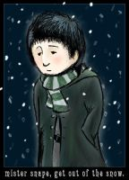 mr snape, out of the snow - ls by liquidscissors