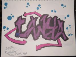 graffiti name  drawing (tanya) by kemsley