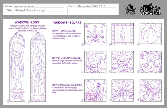 True Tail: Stained Glass Concept 001 by SkynamicStudios