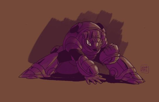Armored Armadillo Doodle by MegaRyan104