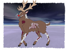 Rudolph, The Zombie Reindeer by andy-pants