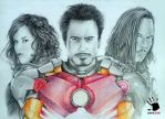 Iron Man 's Drawing by amerakat