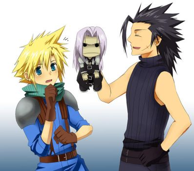 FF7 x LBP- Look what I FOUND by meru-chan
