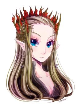 Female Thranduil by ibahibut