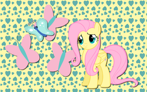 Fluttershy and Butterfly WP by AliceHumanSacrifice0