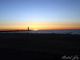 Sunset over Lake Michigan by RichardGray53012