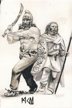 Dacian tribesmen by deWitteillustration