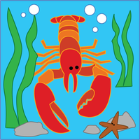 Lobster Quilt Patch revised by colormist