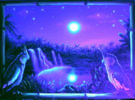 Birds under Blacklight by TomLenz