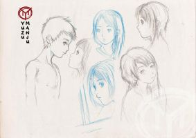 Manga Pencil Sketches by Irene-Rodriguez