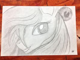 Luna Via Pencil by PhilomathicDusk