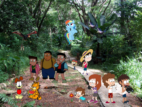 Alien Rainforest Trail Toons! by Fyrekobra