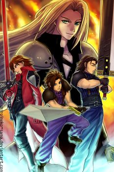 FF7CC: SOLDIERs by ShiroiNeko-sama
