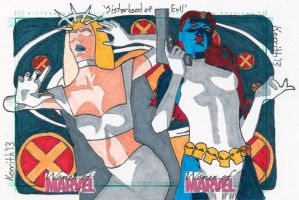 WoM - Sisterhood of Evil - Mystique and Emma Frost by KerrithJohnson