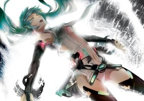 Hatsune Miku by Amistrated