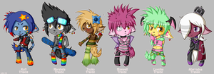 The Trayze Family Chibis by Ameyh