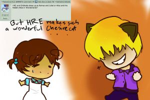 Response 262 Alice and Chesire Cat by AskHRExChibitalia