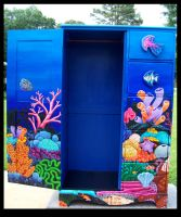 Reef Armoire - Open by ReincarnationsDotCom