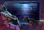 .:Commission:. Skywarp and Ravage by BloodyDragon117