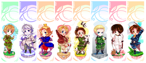 Hetalia Bookmarks by Suguri