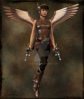 Steampunk Angel by Laschae