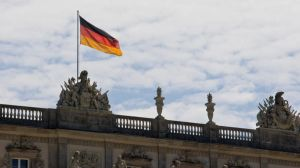 german Flag on the Castle by archaeopteryx-stocks