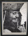 Jack Sparrow - Grid Drawing by Freai