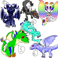 Dragon Adopts- Batch 1 :OPEN: Draw to Adopt! by frillyfins