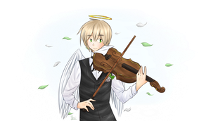 APH: ~Play the Violin~ by AnglaisRose