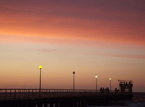 Lamps and Sky by Adagem