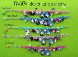 New Bracelets Studio Ghibli Theme with PLUS :) by tivibi