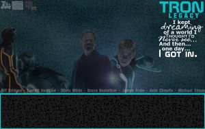 TRON: Legacy Background by DragonIce85