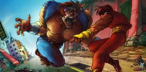 SSF IV: T-Hawk vs Guy by TheRagingSpaniard