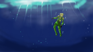 Ninjago Lloyd Drowning by greengigal
