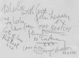 Original Beatles Autographs by Toydog16r