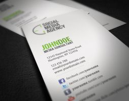 Social Media Business Card by glenngoh