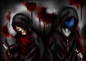 Silent Sam and Eyeless Jack by ZombieRay10