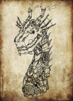 Steam Dragon - detail by Van-Oost