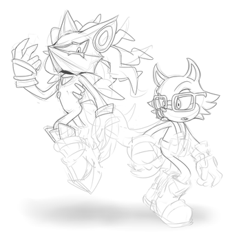 SONIC FORCES - Infinite and Rookie [WIP] by Cylent-Nite