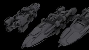 Glisean Armadillo-class Defense Corvette by Helge129